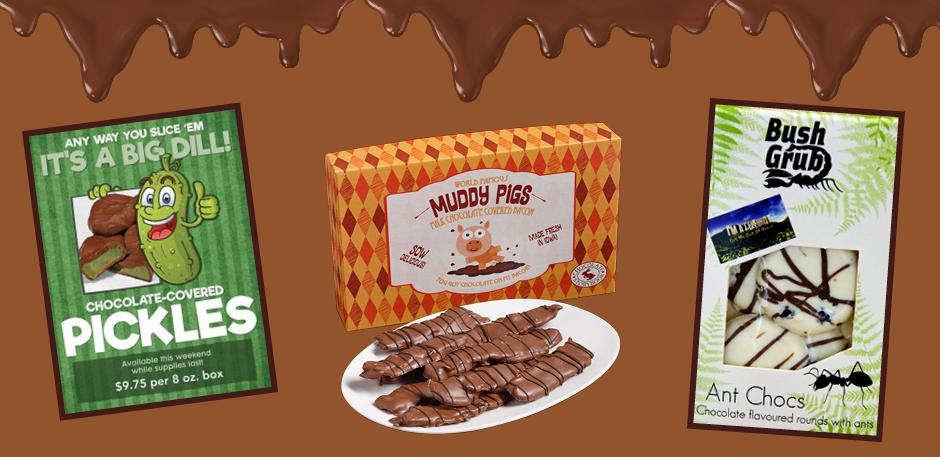 8 chocolates malucos pelo mundo. Arte: Suzana Obara
