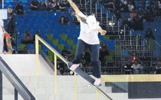 A skatista Pamela Rosa durante uma competição. Foto: Instagram/ Reprodução.