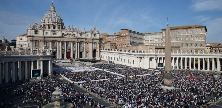 Cerca de 50 mil pessoas acompanharam a canonização da Santa Dulce no Vaticano. Foto: Grzegorz Galazka/Archivio Grzegorz Galazka/Mondadori Portfolio via Getty Images