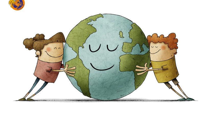 criancas fazem acoes para o mundo home