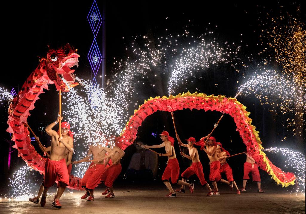 Celebração de Ano-Novo na China. Foto: Kevin Frayer/Getty Images