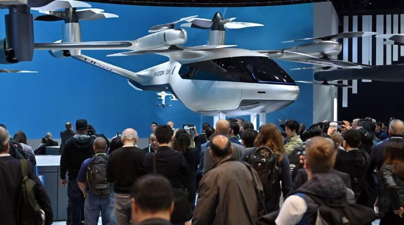O carro voador da parceria entre a Hyundai e a Uber foi um dos destaques da CES 2020. Foto: David Becker/Getty Images