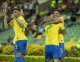 No campeonato Pré-Olímpico, o Brasil estreou no futebol masculino vencendo do Peru. Foto: Lucas Figueiredo/ Fotos Públicas.
